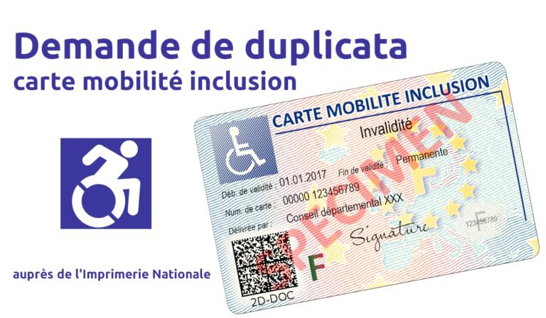 Duplicata carte mobilité inclusion CMI