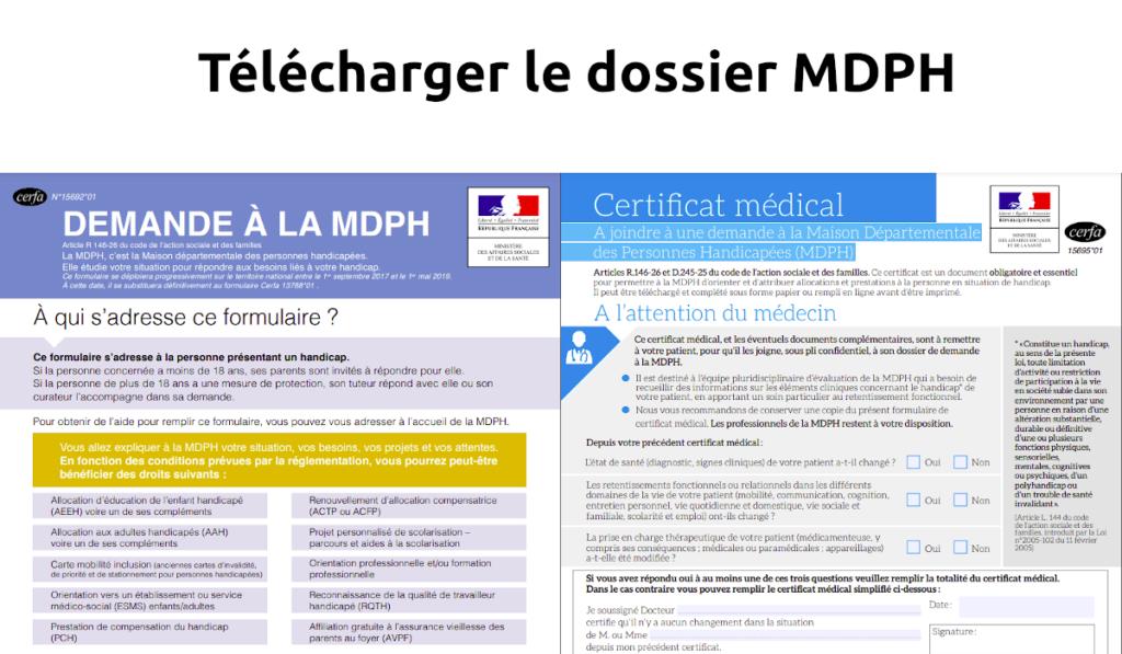 Télécharger le dossier MDPH