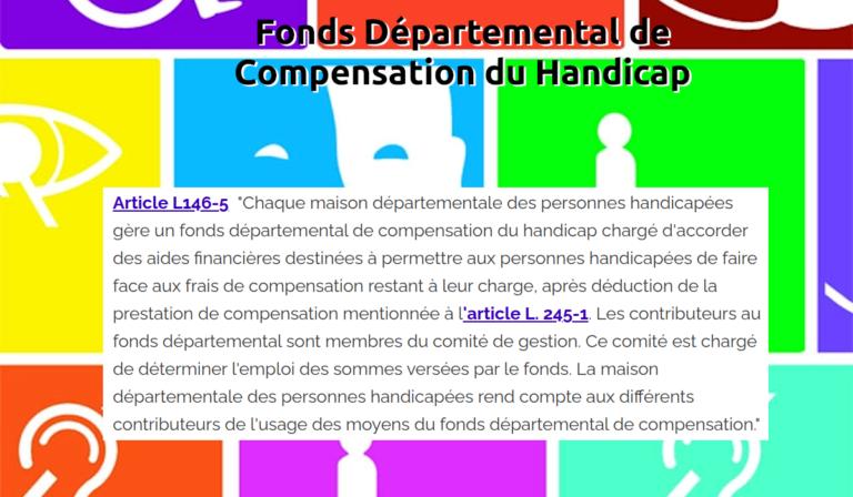 Fonds Départemental de Compensation du Handicap